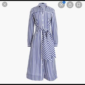 J.crew Midi Shirt Dress in bold stripe (NO SASH)